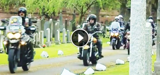 bikers rode funeral unknown baby