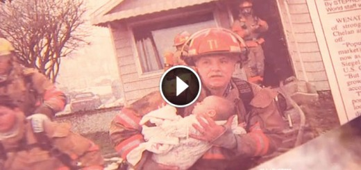 hero firefighter save baby reunite