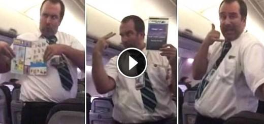 hilarious flight attendant safety demo