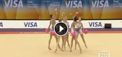 Rhythmic Gymnastics. Spain, 5 Balls