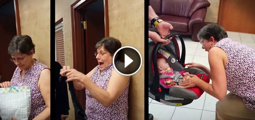 grandma surprised adopted baby