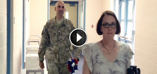 soldier surprises son